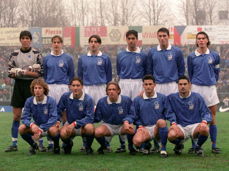 Buffon nel 1995 con l'Italia Under 21