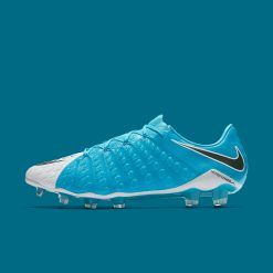 Nike Hypervenom Phantom basse colori azzurro e bianco