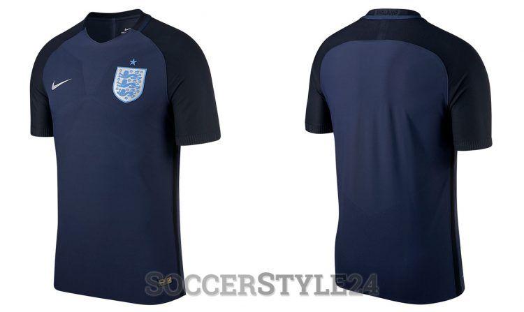 Seconda maglia Inghilterra 2017 away blu