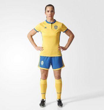 Kit Svezia femminile 2017 home