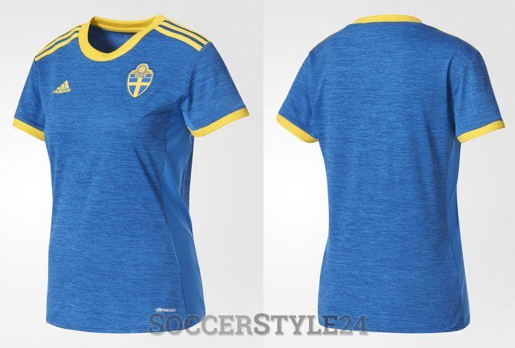 Seconda maglia Svezia 2017 Europei blu