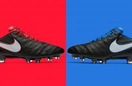 Scarpini Nike Tiempo Derby rosso blu