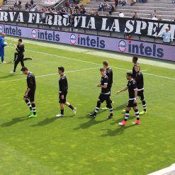 I calciatori dello Spezia Calcio