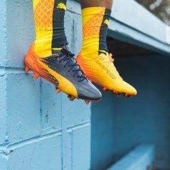 Le scarpe Puma evoSpeed SL Tricks blu-arancione