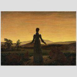Germania Friedrich Frau Untergehenden Sonne