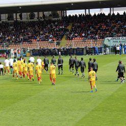Spezia-Benevento ingresso in campo