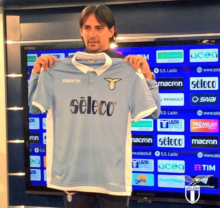 Maglia Lazio sponsor Seleco, Simone Inzaghi