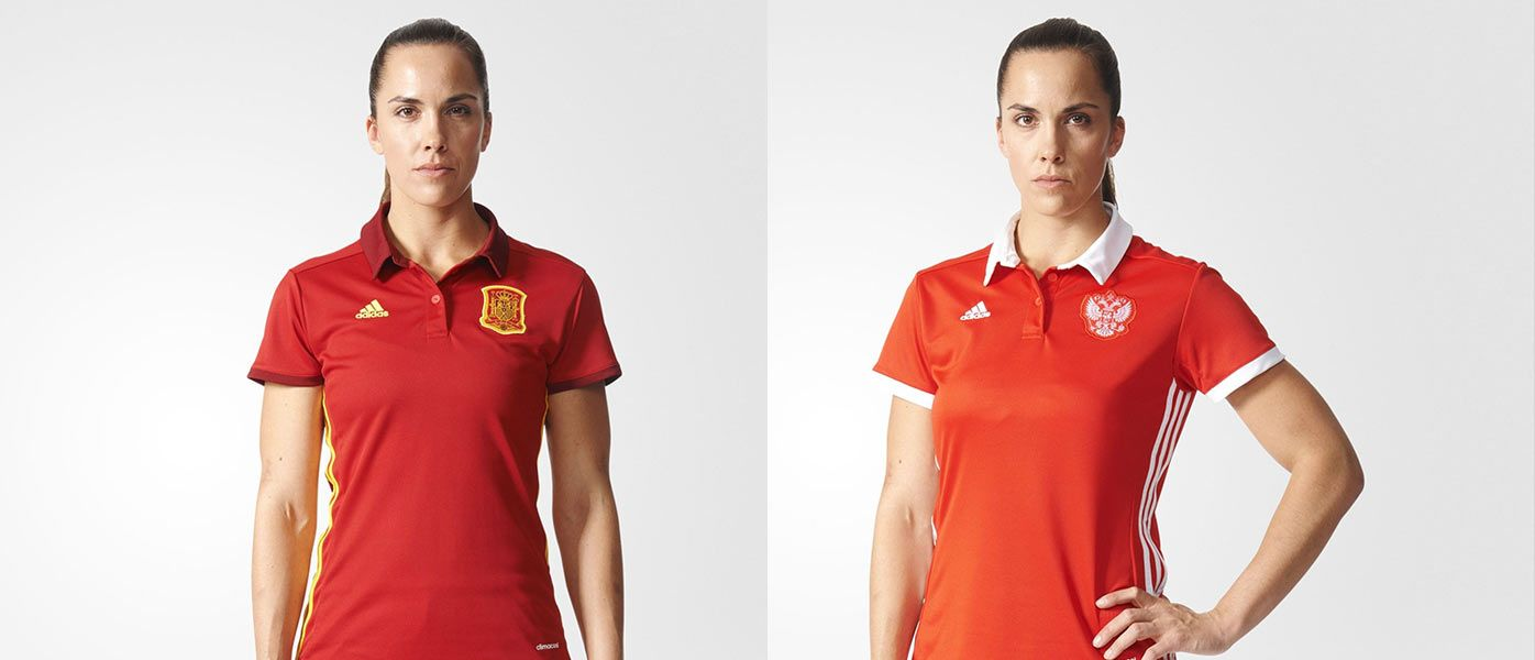 Maglie Spagna e Russia Europei 2017