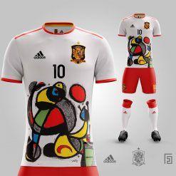World Cup Poster di Mirò sulla maglia della Spagna