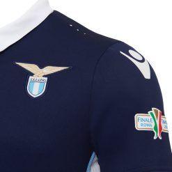 Dettaglio maglia speciale Lazio 2016-17 tricolore