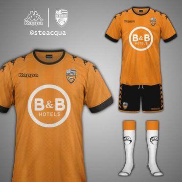 Lorient FC kit design Kappa home