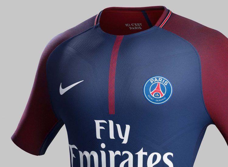 Dettaglio maglia Paris Saint-Germain 2017-18 Nike