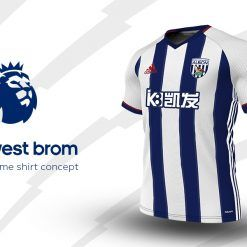 West Bromwich Home Adidas EPL