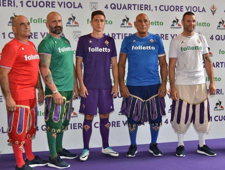 Presentazione nuove maglie Fiorentina 2017-18