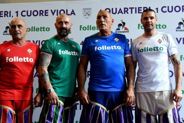 Le maglie della Fiorentina per i 4 quartieri di Firenze