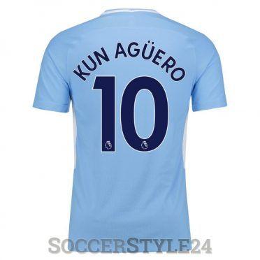 Maglia Manchester City Kun Aguero 10 - 2017-2018