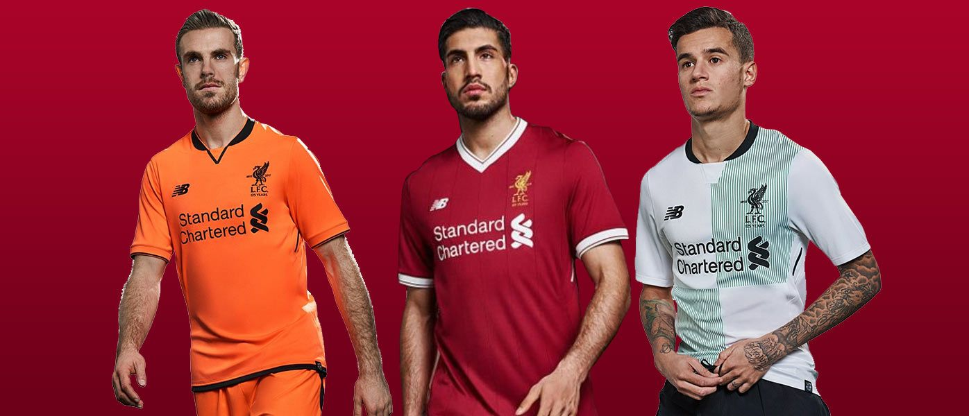 Maglia Liverpool 2017-2018, New Balance celebra i 125 anni dei Reds