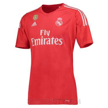Maglia portiere Real Madrid away 2017-18 rossa