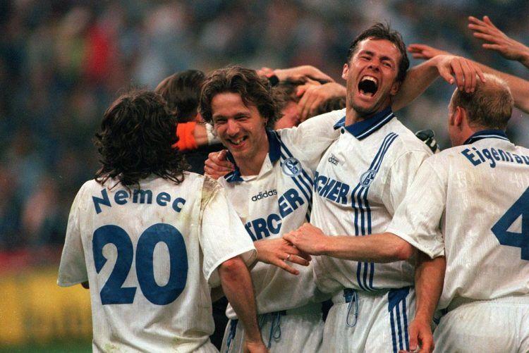Maglia Schalke 04 1996-1997 Coppa Uefa