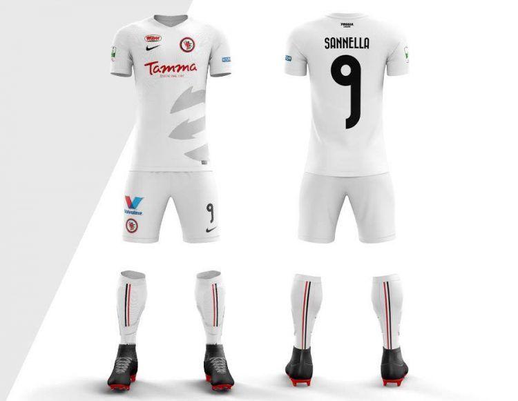 Seconda maglia Foggia 2017-2018 bianca