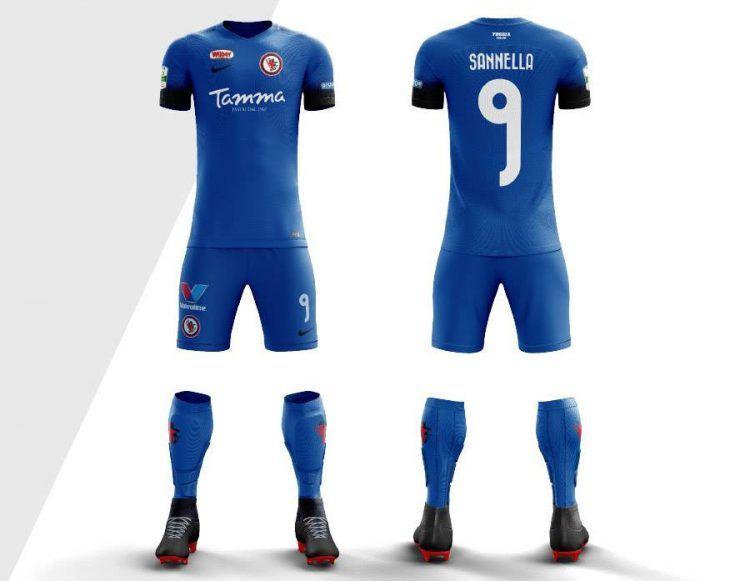 Foggia terza divisa blu 2017-18