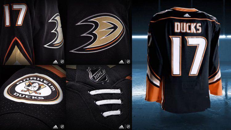 Anaheim Ducks 2017/2018 dettagli maglia