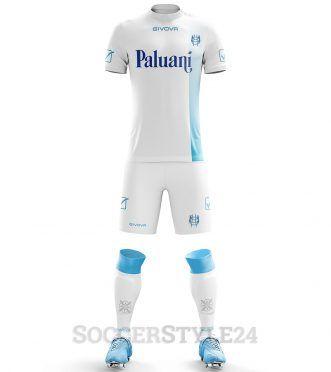 Seconda maglia Chievo 2017-2018 bianca-azzurra