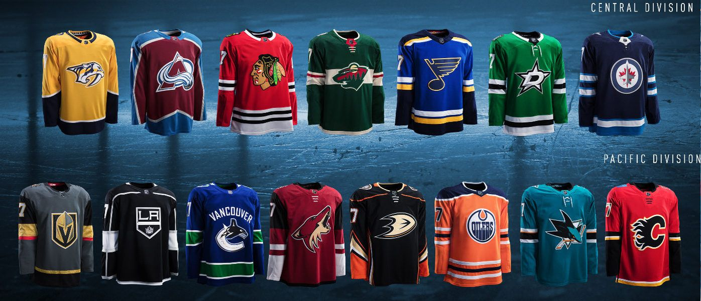 Maglie Adidas NHL 2017-2018 Western Conference