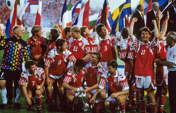La festa della Danimarca per la vittoria di Euro 1992