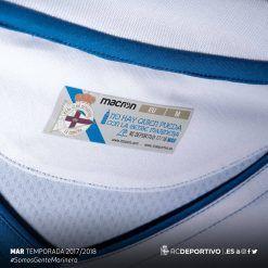 Interno colletto, maglia Deportivo La Coruna home