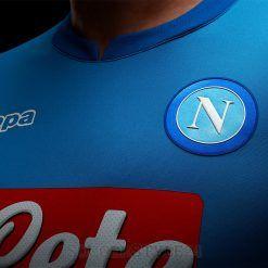 Sponsor Lete traforato maglia Napoli