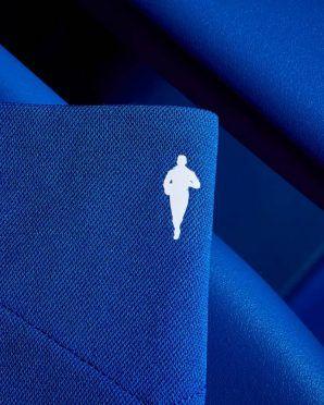 La sagoma di Dixie Dean sulla maglia dell'Everton