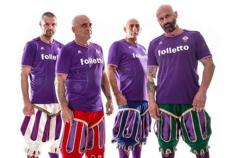 Fiorentina, le nuove maglie ispirate al calcio storico