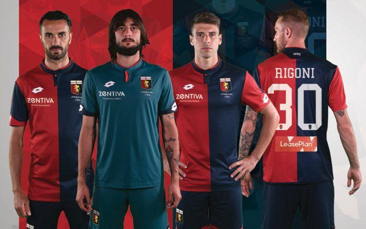 Il nuovo font sulle maglie del Genoa 2017-18