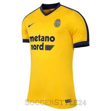 Seconda maglia Verona 2017-18 gialla
