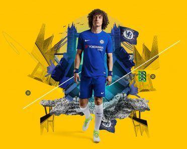 David Luiz indossa la divisa Nike del Chelsea