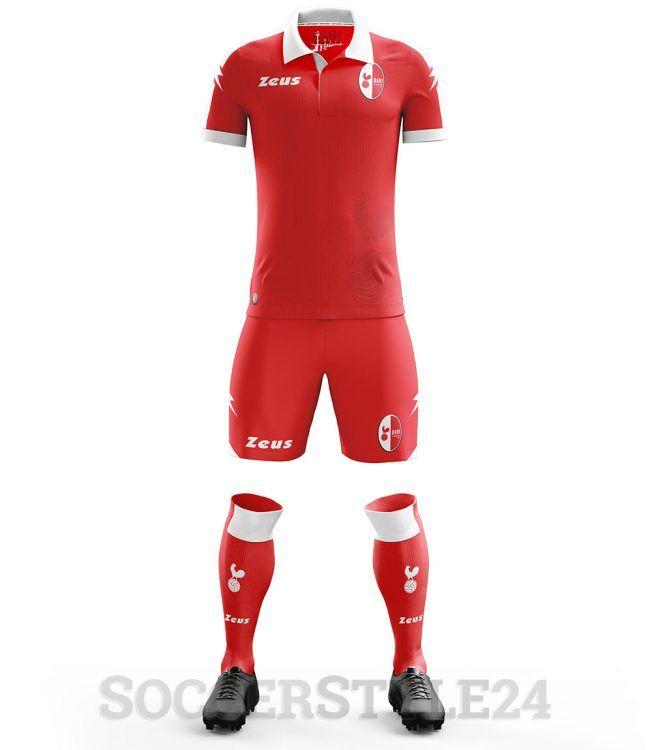 Seconda maglia Bari rossa 2017-18
