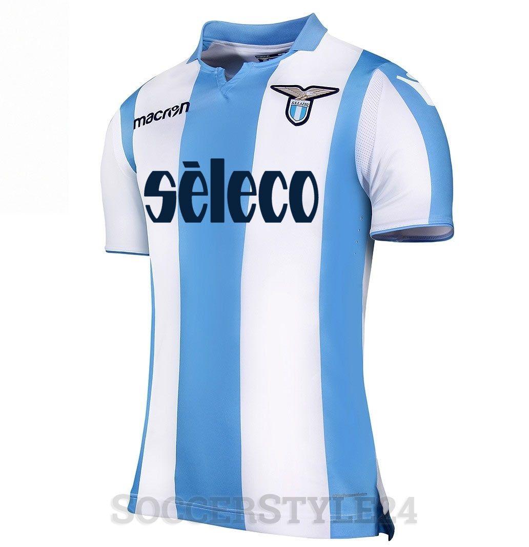 Maglie Lazio 2017-2018, stemma anni '80 e righe biancocelesti
