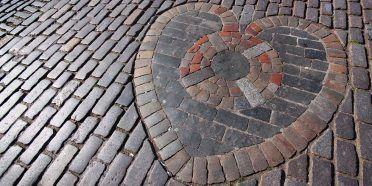 Mosaico cuore cattedrale di Edimburgo