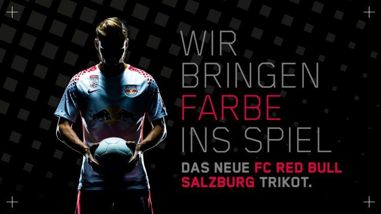 Lancio maglia Red Bull Salisburgo