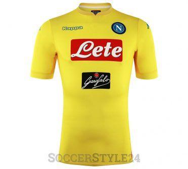 Seconda maglia Napoli 2017-2018 gialla