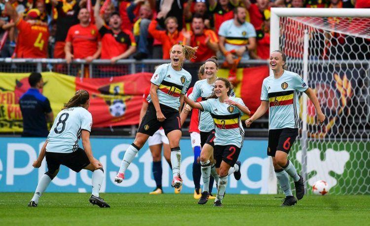 Belgio, maglia away donne Euro 2017