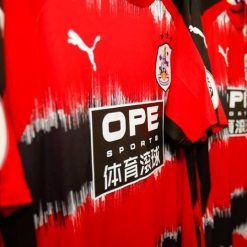 Dettaglio strisce rossonere Huddersfield Town