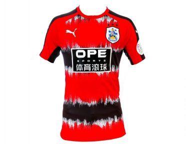 Terza maglia Huddersfield Town 2017-2018 rosso-nera