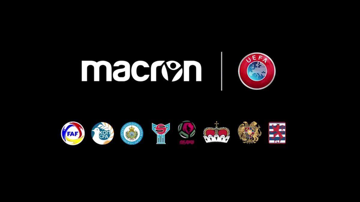 Macron sponsor nazionali UEFA minori