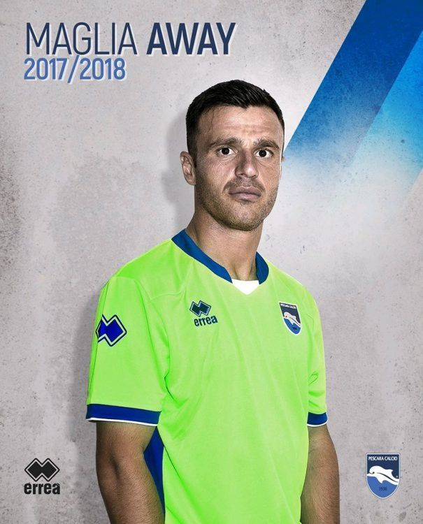 Seconda maglia Pescara 2017-2018 verde fluo