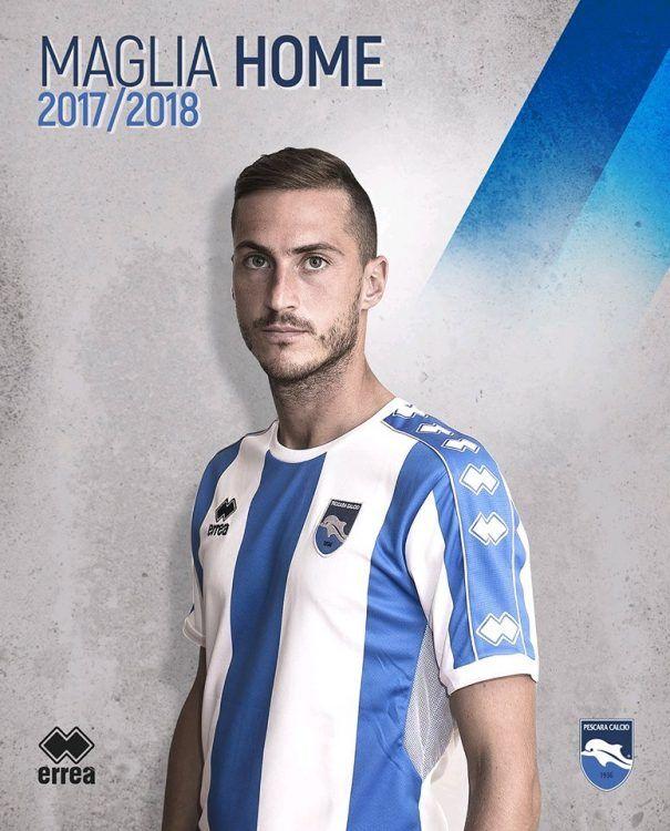 Maglia Pescara 2017-2018 casa