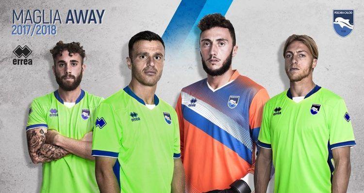 La divisa away del Pescara 2017-2018