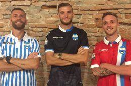 Le tre maglie della Spal per la Serie A 2017-2018