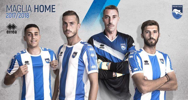 La nuova maglia casalinga del Pescara per la Serie B 2017-2018